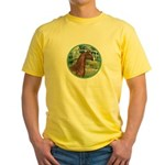 Bridge/Arabian horse (brn) Yellow T-Shirt