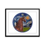 Starry/Arabian horse (brn) Framed Panel Print
