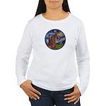 Starry/Arabian horse (brn) Women's Long Sleeve T-S