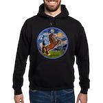 Starry/Arabian horse (brn) Hoodie (dark)