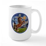 Starry/Arabian horse (brn) Large Mug