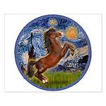 Starry/Arabian horse (brn) Small Poster