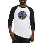 Starry/Arabian horse (brn) Baseball Jersey