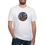 Starry/Arabian horse (brn) Fitted T-Shirt