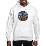Starry/Arabian horse (brn) Hooded Sweatshirt