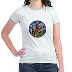 Starry/Arabian horse (brn) Jr. Ringer T-Shirt
