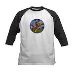 Starry/Arabian horse (brn) Kids Baseball Jersey