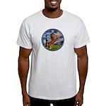 Starry/Arabian horse (brn) Light T-Shirt