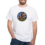 Starry/Arabian horse (brn) White T-Shirt