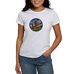 Starry/Arabian horse (brn) Women's T-Shirt
