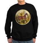 Palms/Arabian horse (w) Sweatshirt (dark)