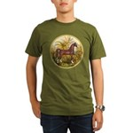 Palms/Arabian horse (w) Organic Men's T-Shirt (dar