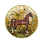 Palms/Arabian horse (w) Ornament (Round)