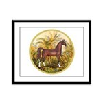 Palms/Arabian horse (w) Framed Panel Print