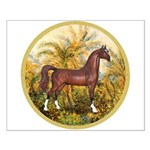 Palms/Arabian horse (w) Small Poster