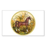 Palms/Arabian horse (w) Rectangle Sticker