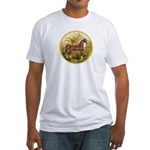 Palms/Arabian horse (w) Fitted T-Shirt