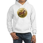 Palms/Arabian horse (w) Hooded Sweatshirt