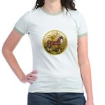 Palms/Arabian horse (w) Jr. Ringer T-Shirt