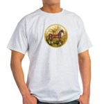 Palms/Arabian horse (w) Light T-Shirt