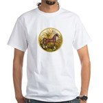 Palms/Arabian horse (w) White T-Shirt