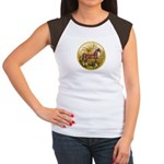 Palms/Arabian horse (w) Women's Cap Sleeve T-Shirt