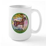 Garden/Arabian horse (brn) Large Mug