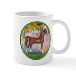 Garden/Arabian horse (brn) Mug