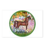 Garden/Arabian horse (brn) Postcards (Package of 8