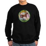 Garden/Arabian horse (brn) Sweatshirt (dark)