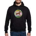 Garden/Arabian horse (brn) Hoodie (dark)