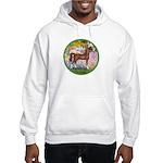 Garden/Arabian horse (brn) Hooded Sweatshirt
