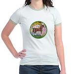 Garden/Arabian horse (brn) Jr. Ringer T-Shirt