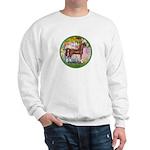 Garden/Arabian horse (brn) Sweatshirt