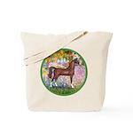 Garden/Arabian horse (brn) Tote Bag