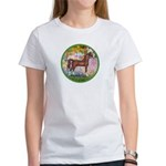 Garden/Arabian horse (brn) Women's T-Shirt