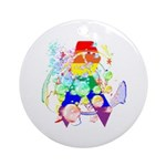 Pride Awareness & Support Ornament (Round)