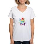 Pride Awareness & Support Women's V-Neck T-Shirt