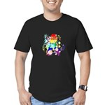 Pride Awareness & Support Men's Fitted T-Shirt (da