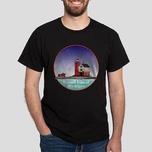 The Round Island Lighthouse Dark T-Shirt