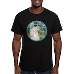 Bridge/Arabian horse (w) Men's Fitted T-Shirt (dar
