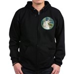 Bridge/Arabian horse (w) Zip Hoodie (dark)