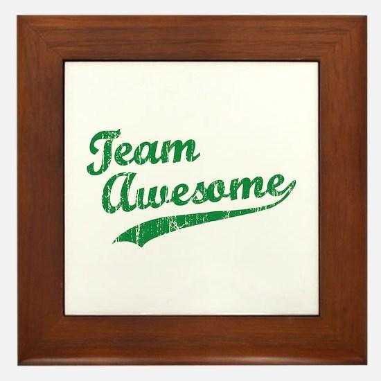Team Awesome Framed Tile
