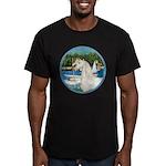 Sailboats/Arabian Horse (w) Men's Fitted T-Shirt (