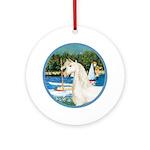 Sailboats/Arabian Horse (w) Ornament (Round)