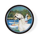 Sailboats/Arabian Horse (w) Wall Clock