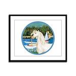 Sailboats/Arabian Horse (w) Framed Panel Print