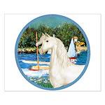 Sailboats/Arabian Horse (w) Small Poster