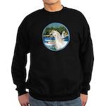 Sailboats/Arabian Horse (w) Sweatshirt (dark)
