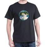 Sailboats/Arabian Horse (w) Dark T-Shirt